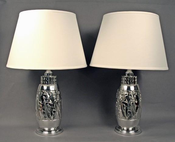 Pair Of Table Lamps By Etling Edmond Laurent Lighting