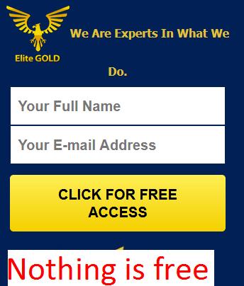 Elite Gold Profits Scam
