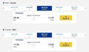 Ryanair_programmazione_invernale_Bari_Cuneo