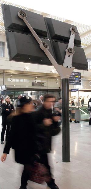 Panneau de signalisation pour la SNCF par Ouest-Industire