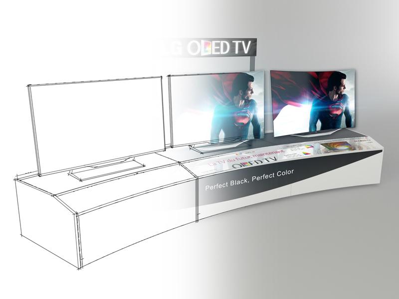 Les forces de Valin - Exemple d'un dessin de présentoir pour TV