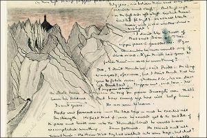 Texto manuscrito para O Senhor dos Anéis