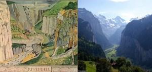 O vale de Valfenda, por Tolkien, e o vale de Lauterbrunnen