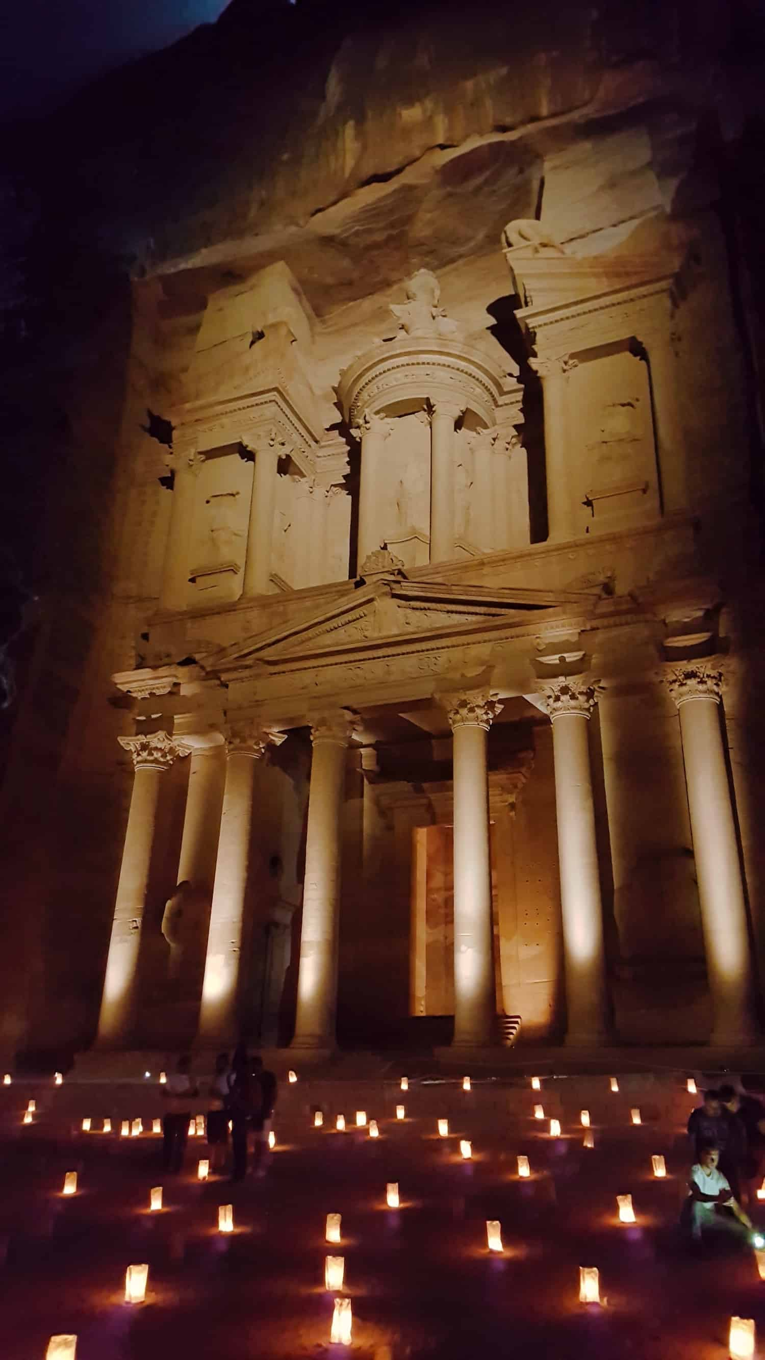 Jordan Itinerary - Petra at Night