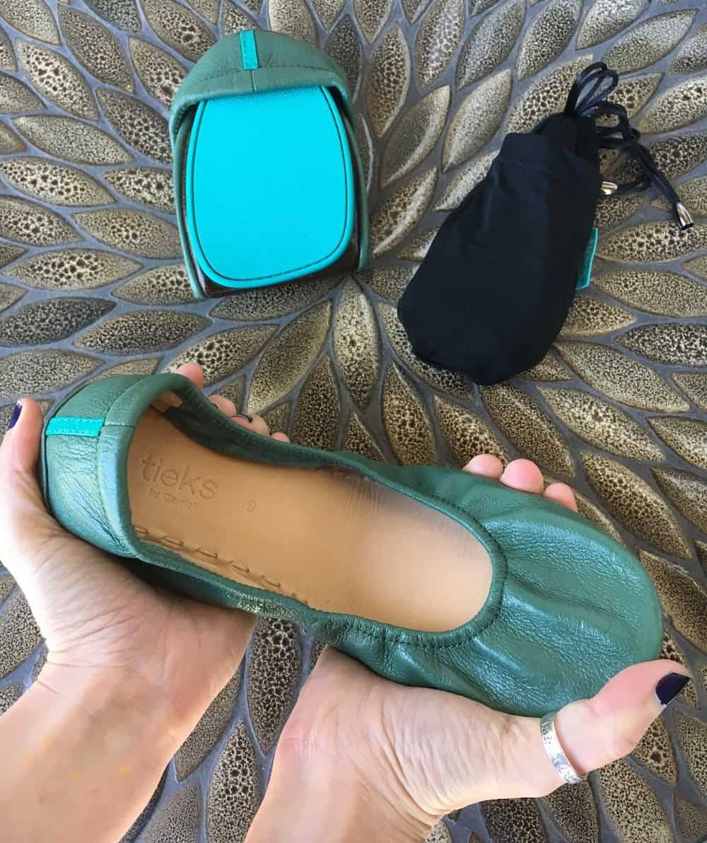 Tieks Review - Pacific Green