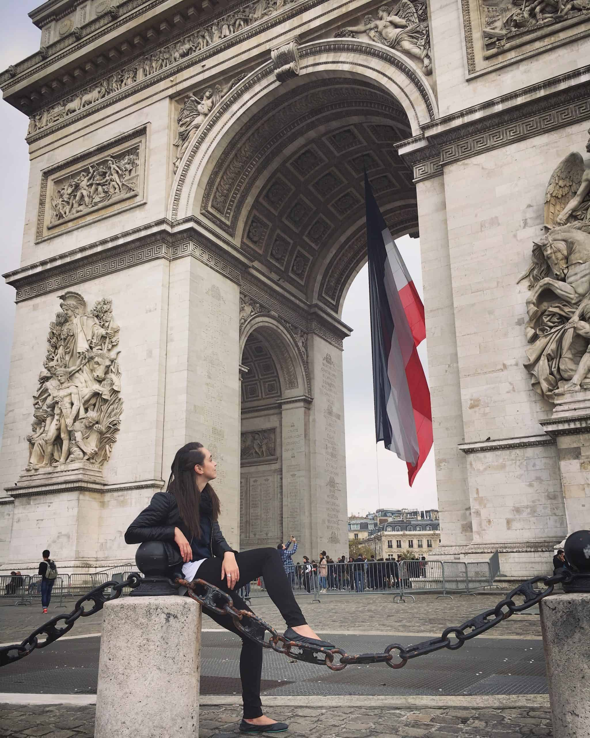 Tieks Review - Tieks at the Arc de Triomphe