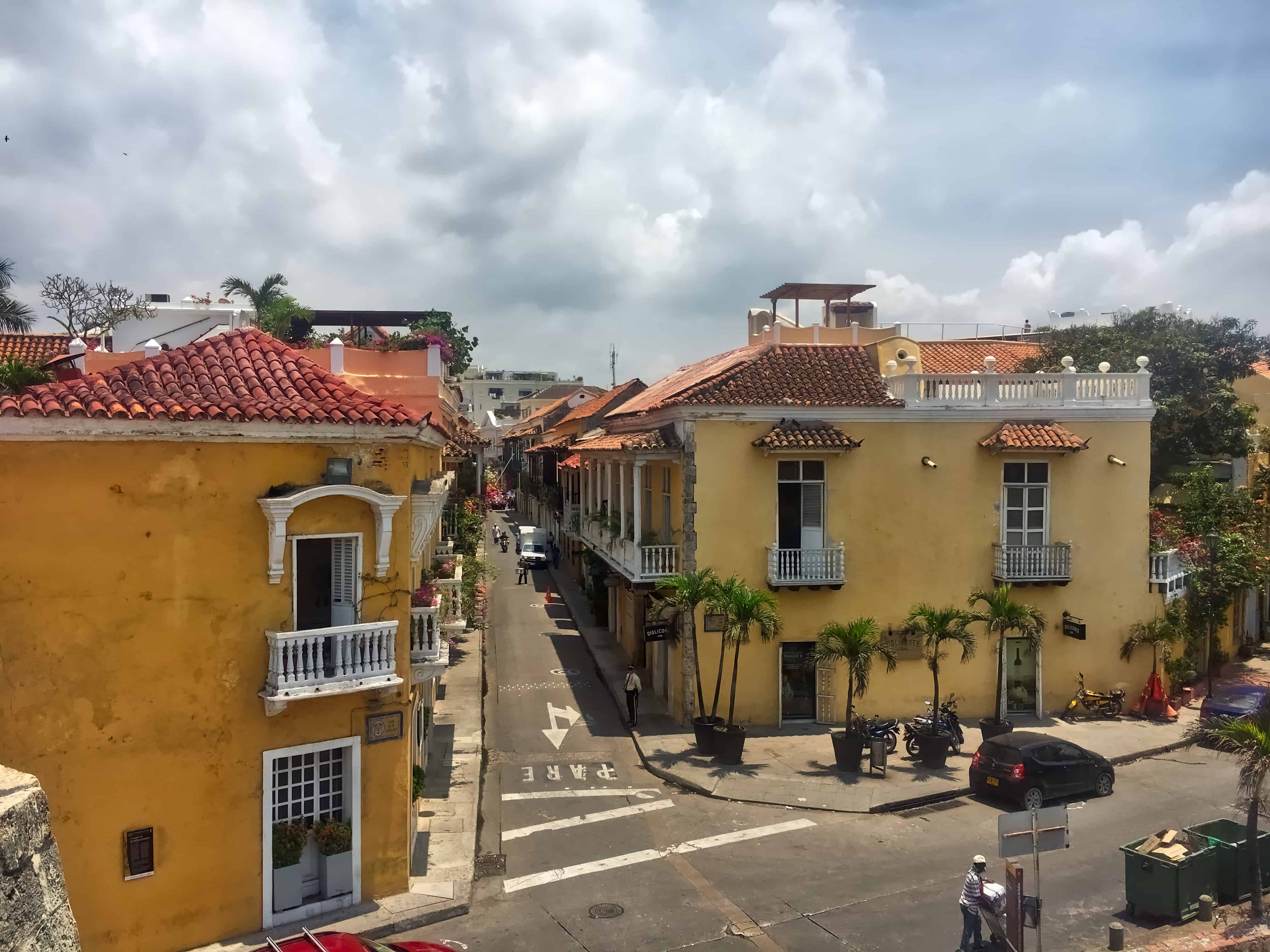 Looking out over Cartagena