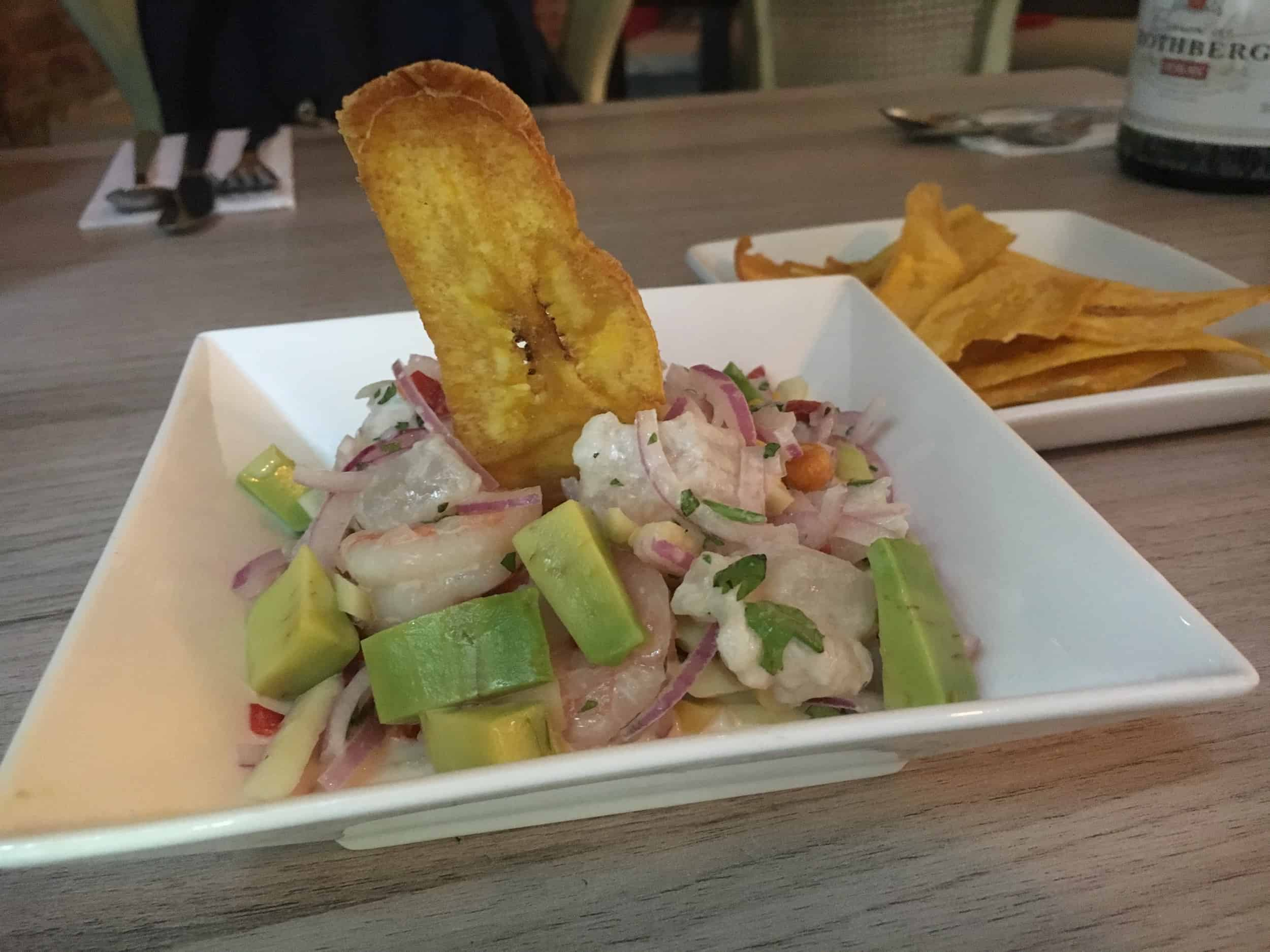 Ceviche & Plantain Chips