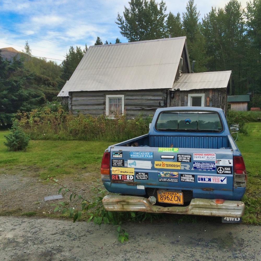 A Pickup Truck & Cabin in Hope Alaska
