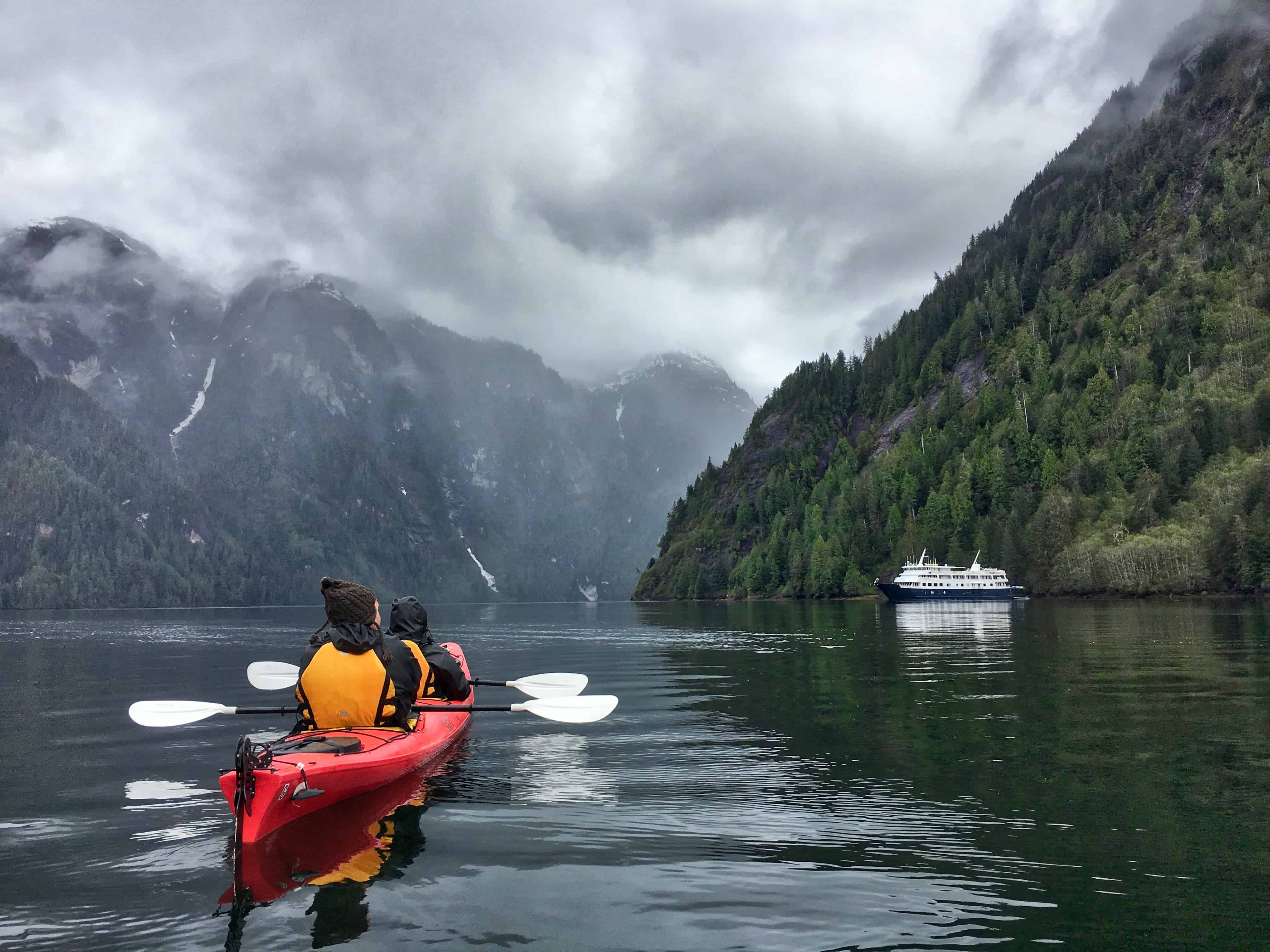 Kayaking in Southeast Alaska with UnCruise Adventures