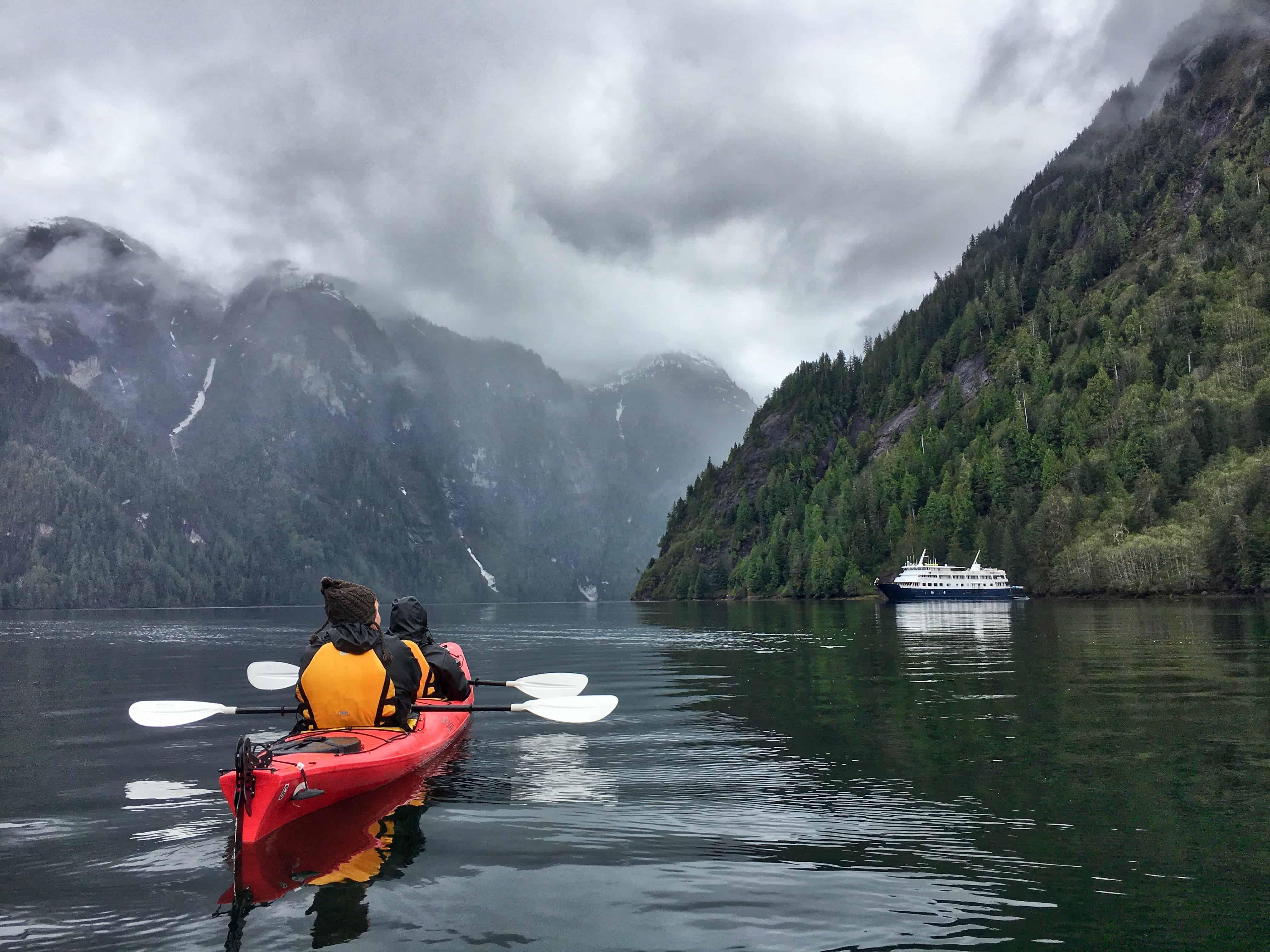 Kayaking in Southeast Alaska with UnCruise Adventures