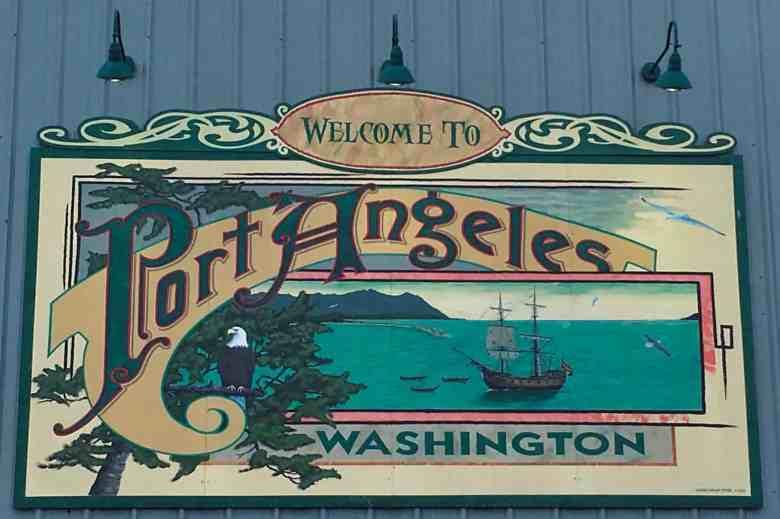 Sign in Port Angeles, Washington