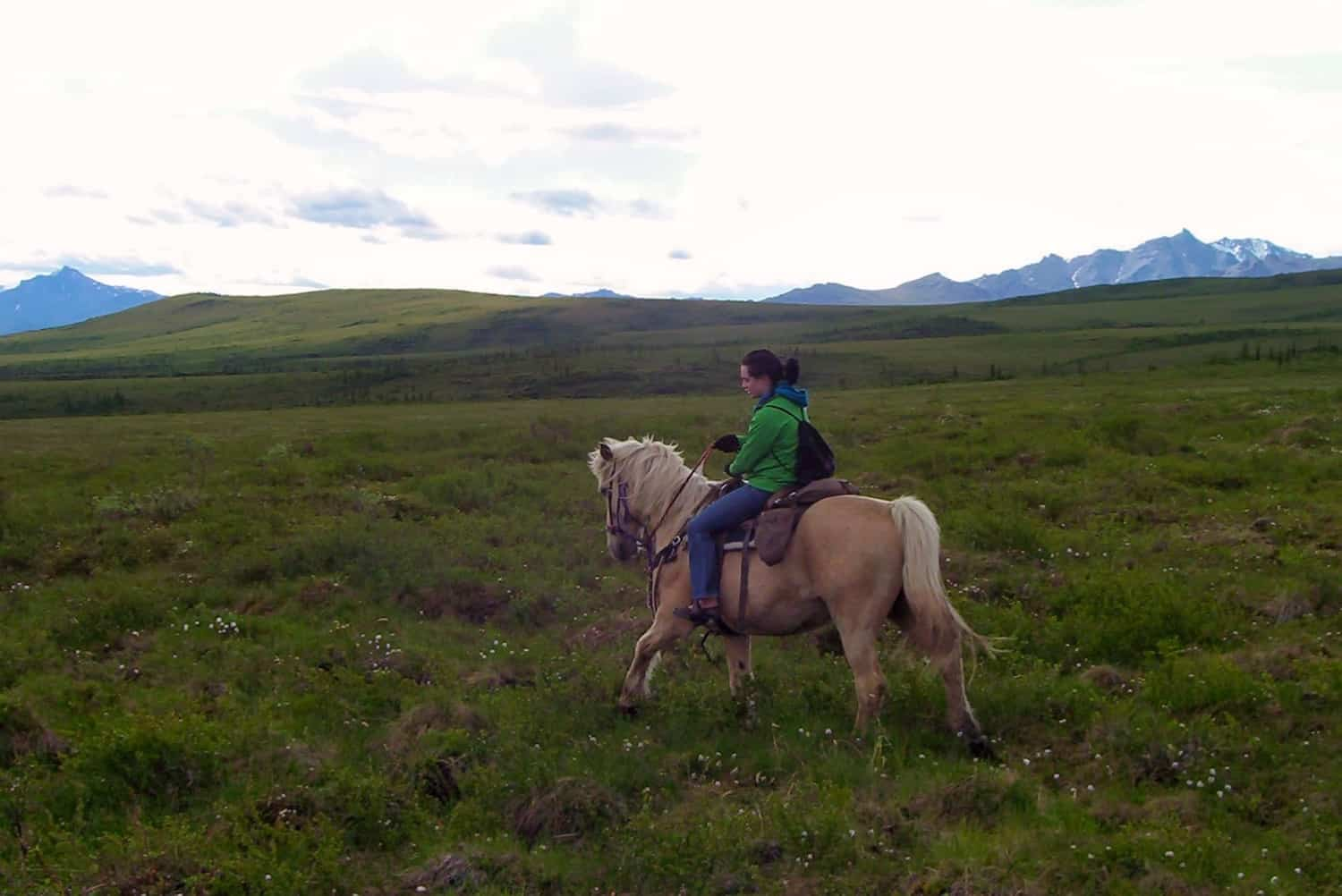 Pack for Alaska- Valerie on Horse