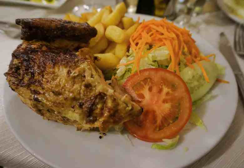 Chilean Food - Chicken and Fries