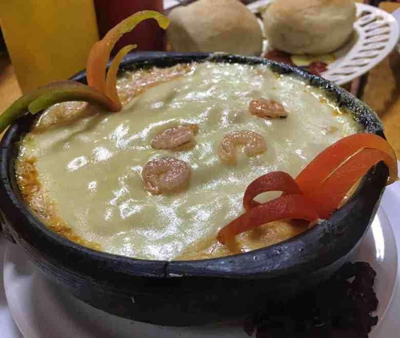 Chilean Food - Sango de Choclo y Camarone