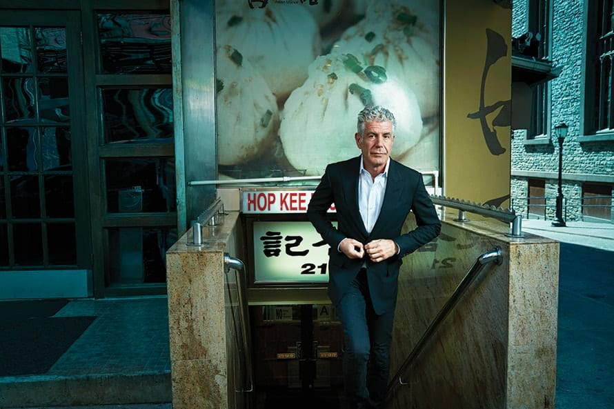 Anthony Bourdain - Photographed by Robert Ascroft for Adweek