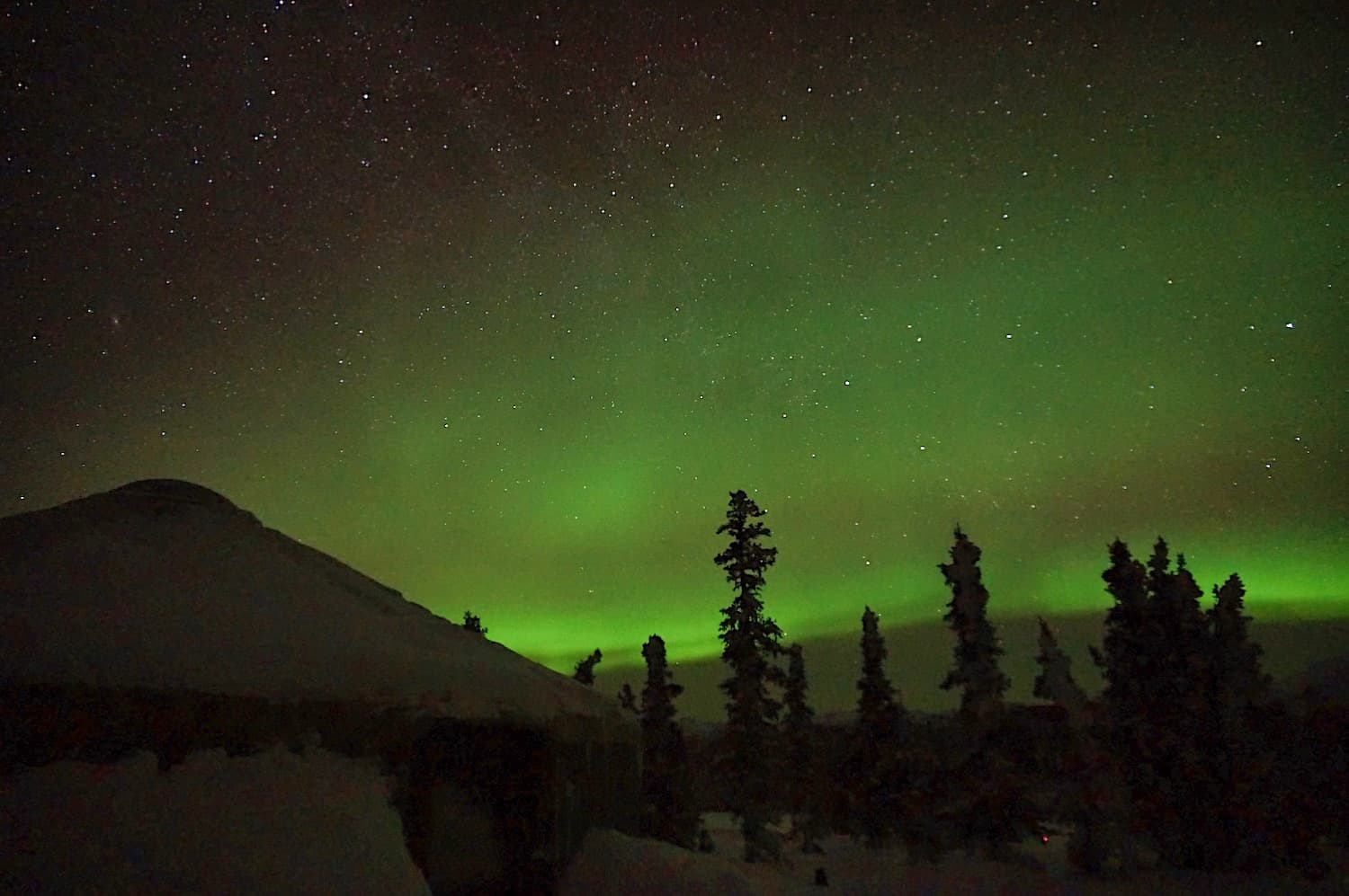 Fairbanks in the Winter - Aurora Viewing