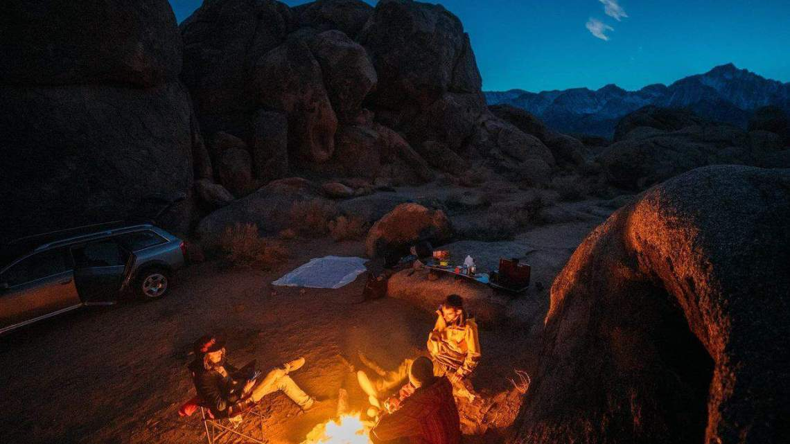 Pack for Car Camping - Group around Campfire