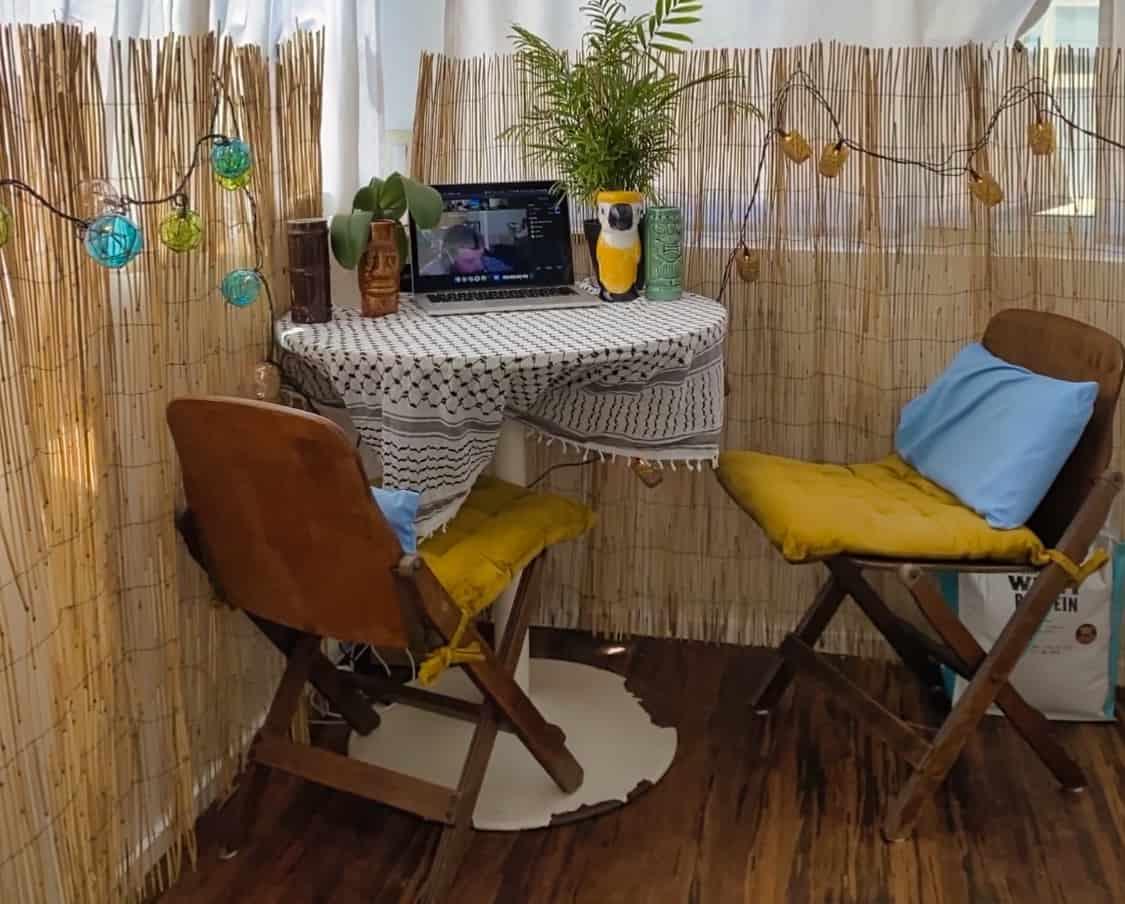 My Tropical Setup for a Hawaii Virtual Bachelor Party