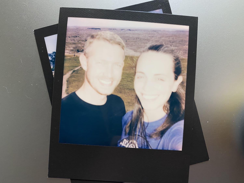 Polaroid Now: Badlands National Park Serfie