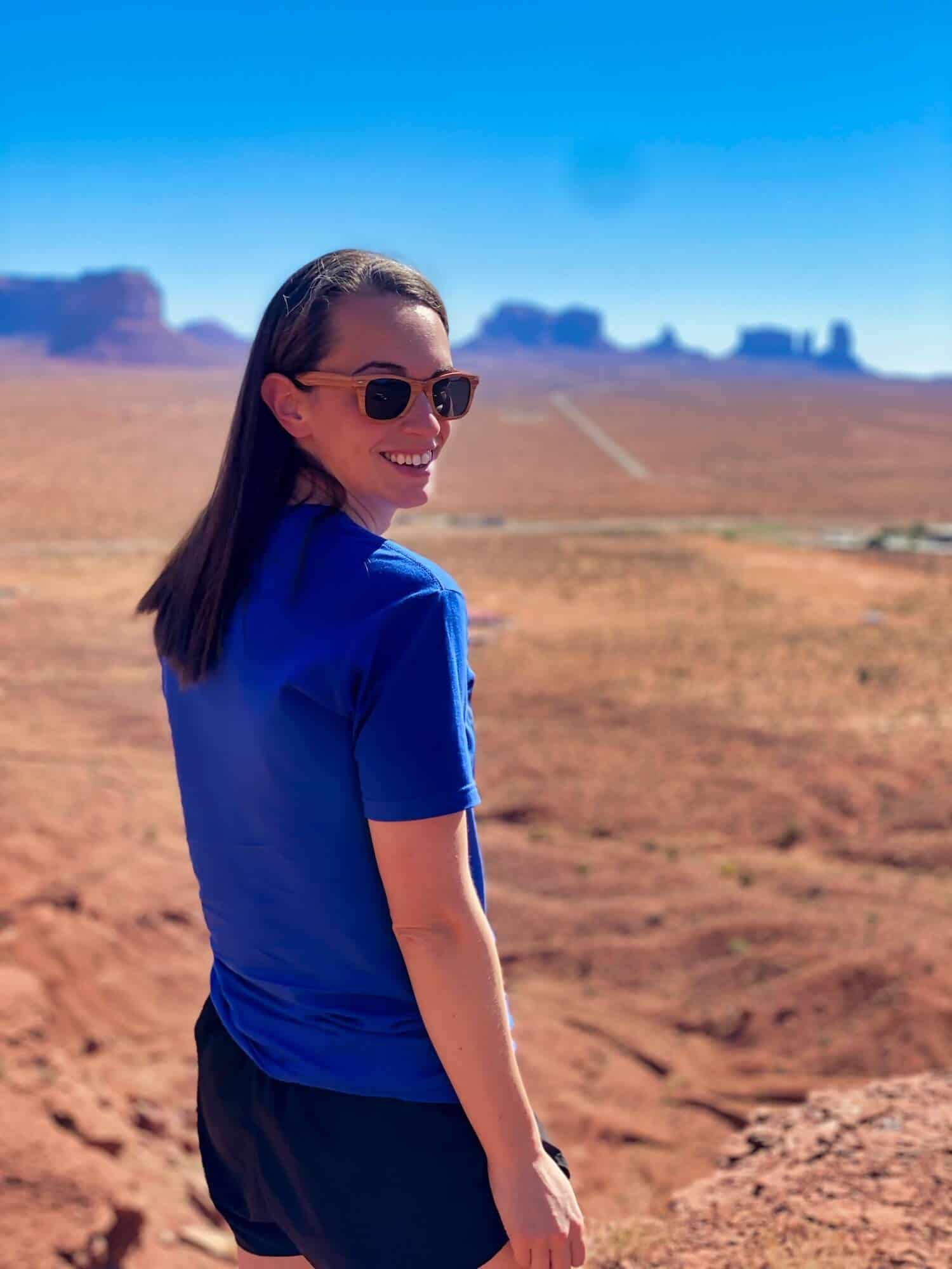 Southwest Road Trip - Valerie in Monument Valley