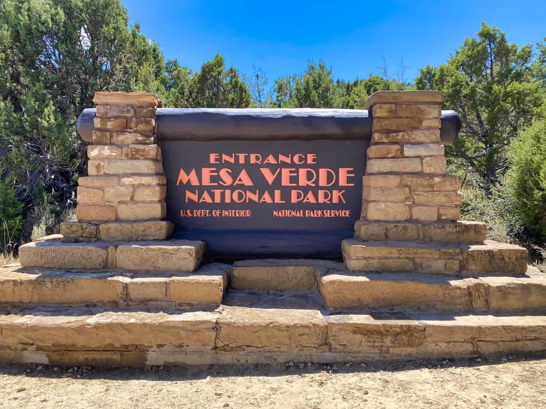 Colorado National Parks - Mesa Verde Sign
