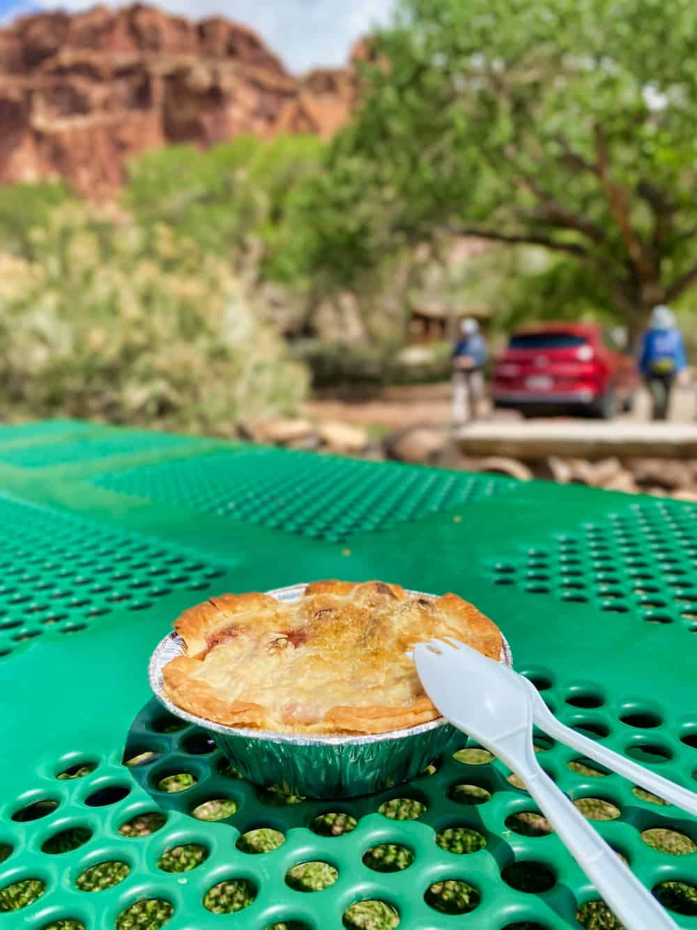One Day in Capitol Reef - Strawberry Rhubarb Pie