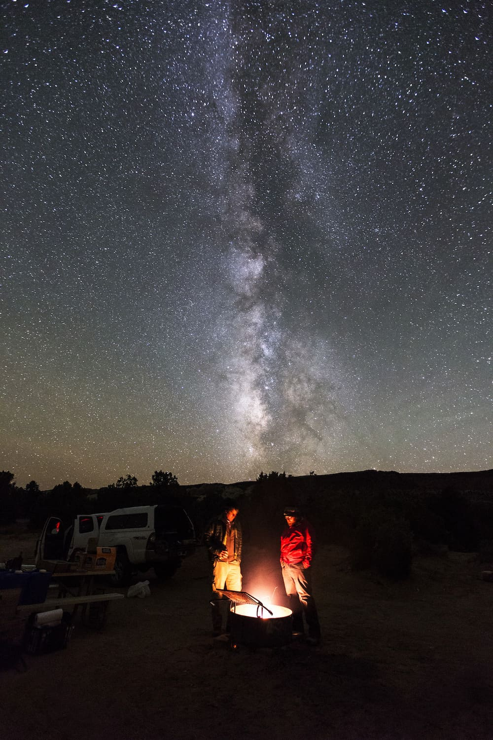 One Day in Capitol Reef - Men at Campfire