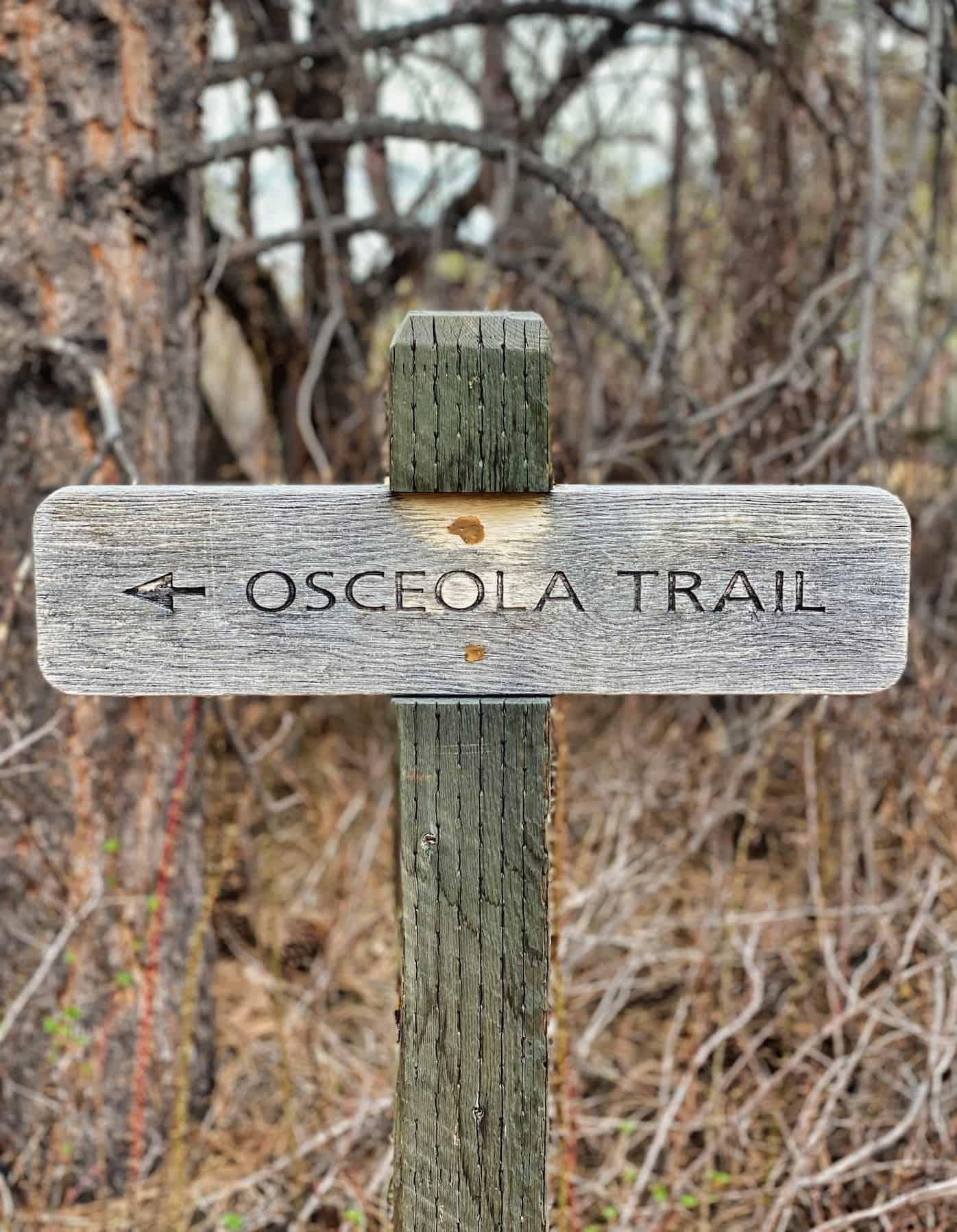 Great Basin - Osceola Ditch Trail Sign