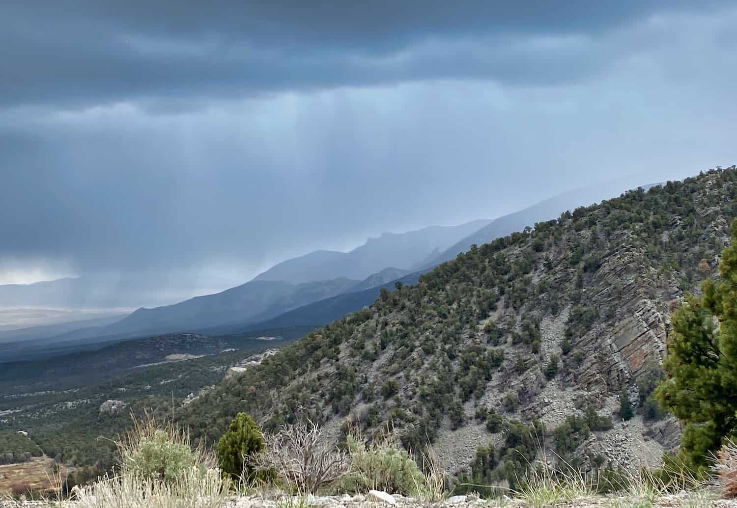 One Day in Great Basin - Rain on the Hills of Snake Range
