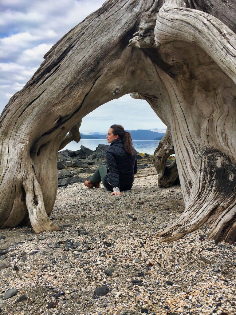 Alaska - Wrangell - Valerie on Beach