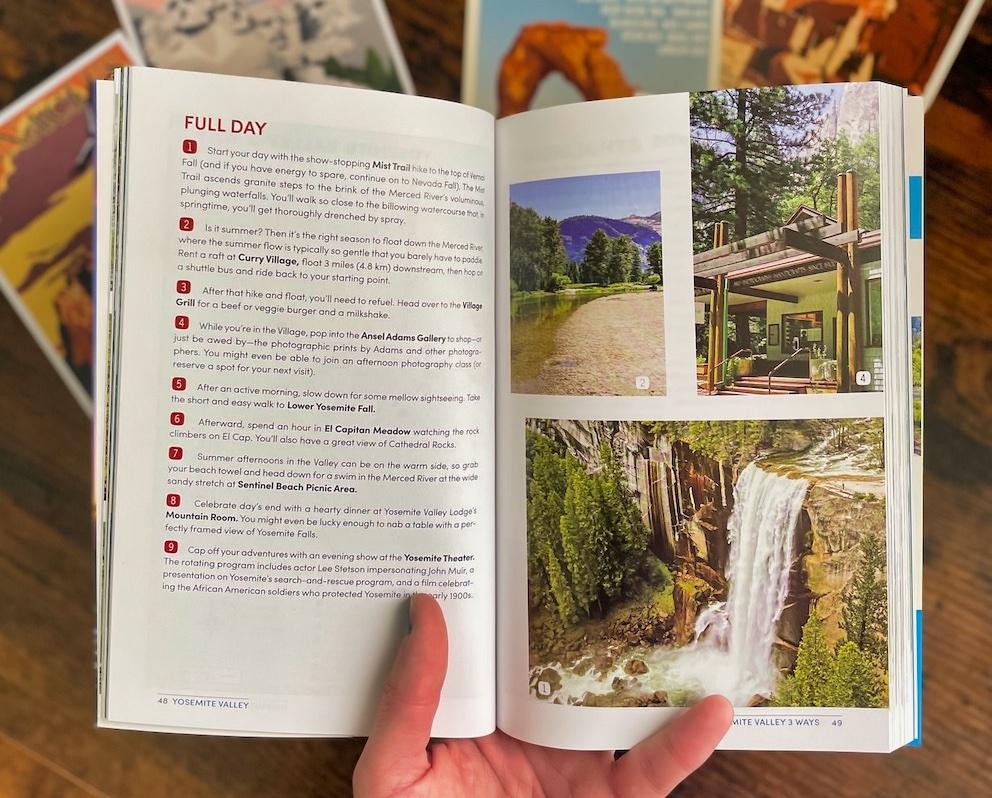Yosemite Moon Guide - Open Book