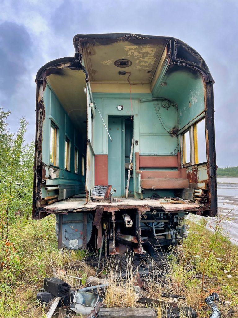 John Hall's Alaska Review - Day 4 - Nenana Abandoned Traincar