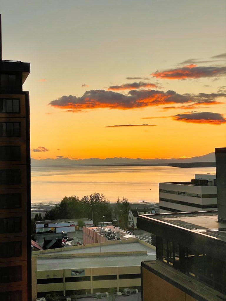 John Hall's Alaska Review - Day 7 - Final Dinner Sunset