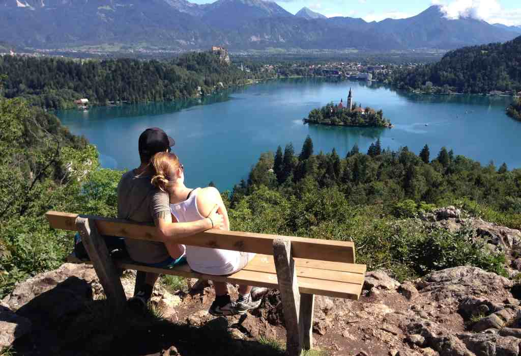 View over Lake Bled in Slovenia