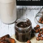 sugar-free chocolate sauce - vegan and only 3 ingredients