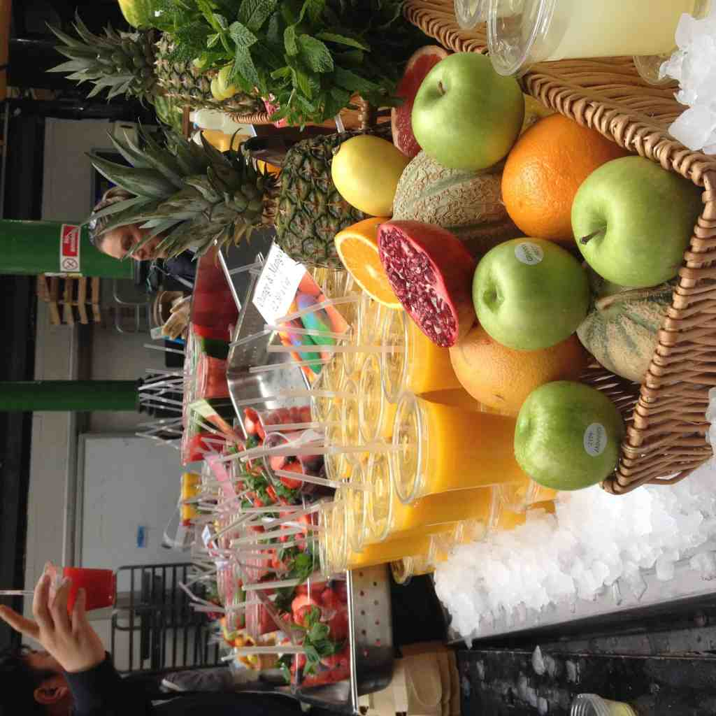 Fresh juices at Borough Market