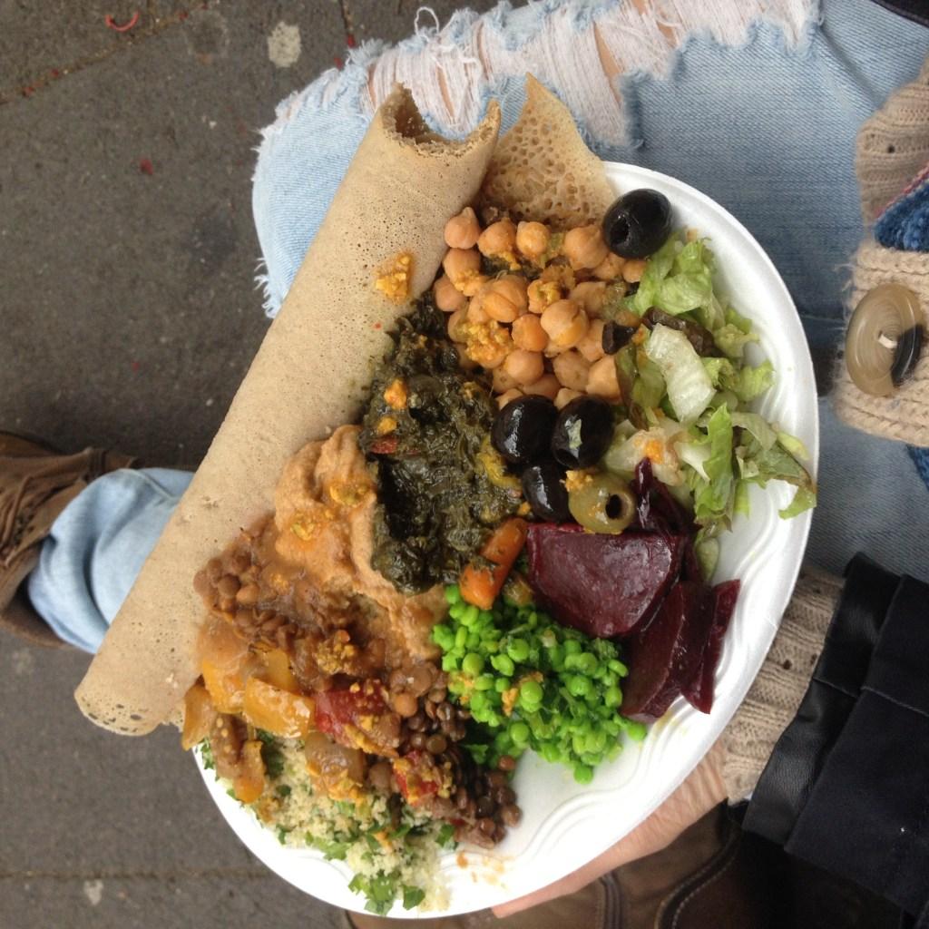 Vegan Ethiopian food at brick lane