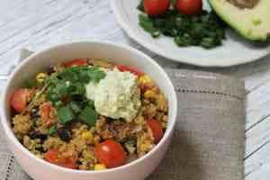 tex-mex quinoa casserole