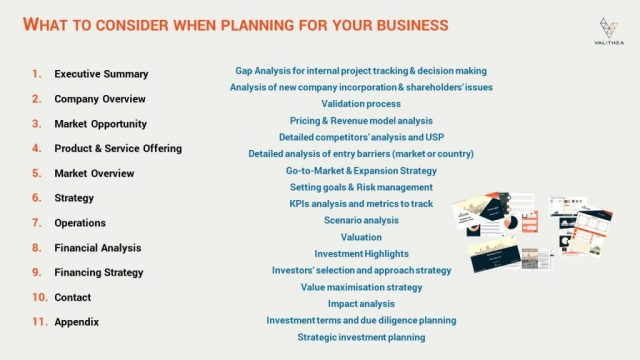 1. Introduction to business planning for fundraising Valithea Advisory