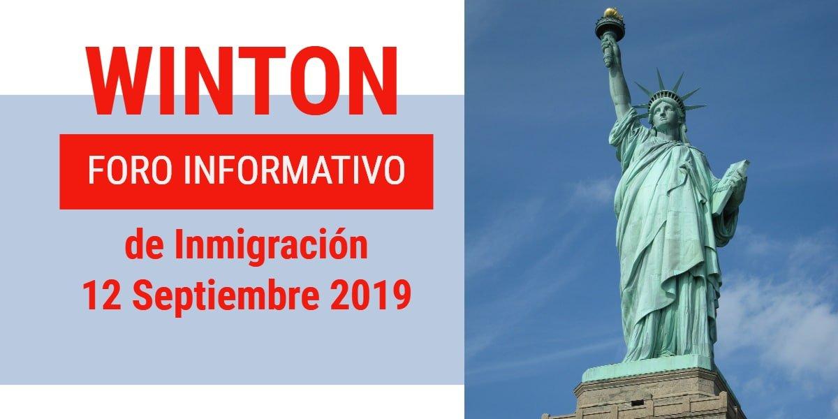 Foro Informativo de Inmigración en Winton 12 Septiembre 2019 CVIIC
