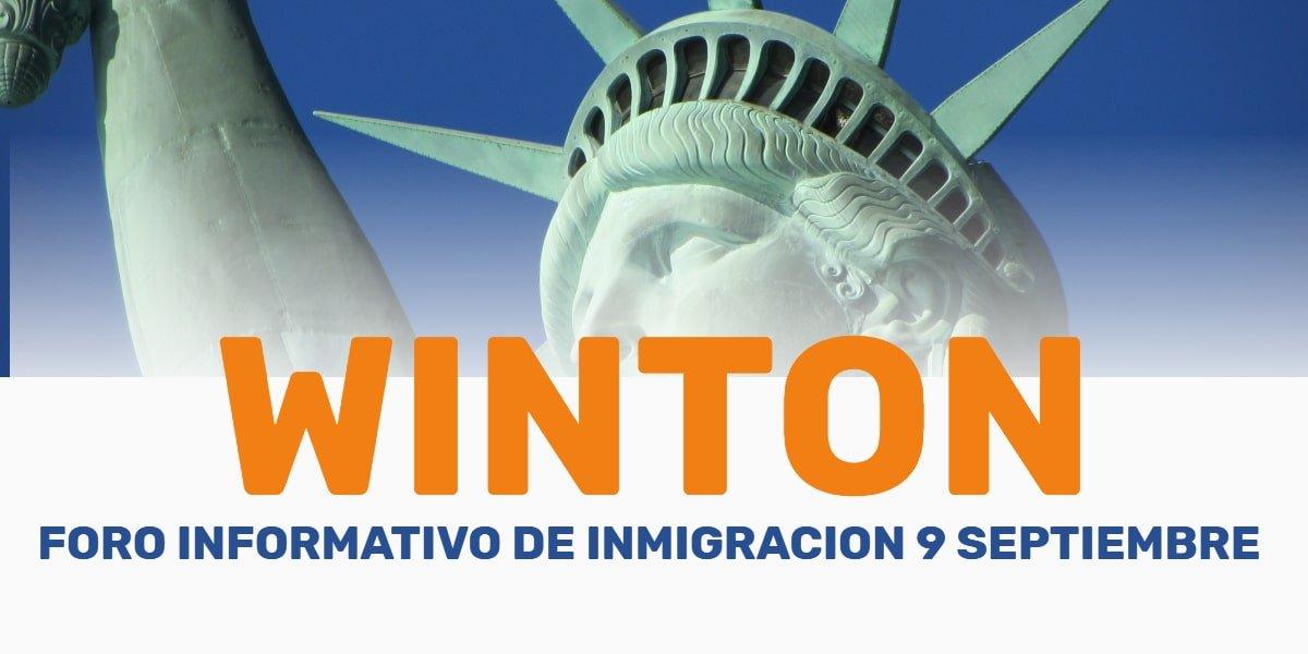 Foro Informativo de Inmigración en Winton 9 Septiembre 2019 cviic