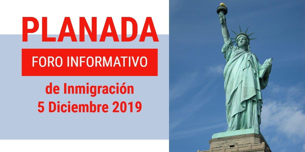 Foro Informativo de Inmigración en Planada 5 Diciembre 2019 CVIIC