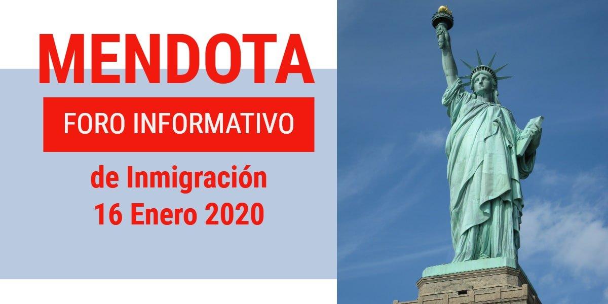 Foro Informativo de Inmigración en Mendota 16 Enero 2020 CVIIC