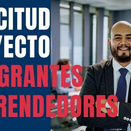 Solicitud Para Proyecto de Inmigrantes Emprendedores