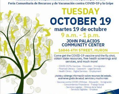 Feria de Recursos Comunitarios en Huron 19 Octubre
