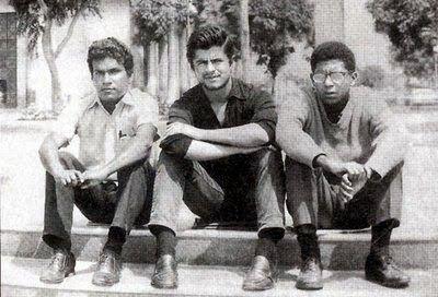 (de izq. a der.) Juan Ramírez Ruiz, Jorge Pimentel y Enrique Verástegui. C. 1975