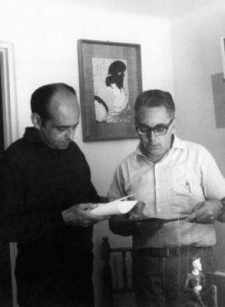 Carlos Germán Belli y su gran amigo, el poeta, editor y traductor Javier Sologuren.