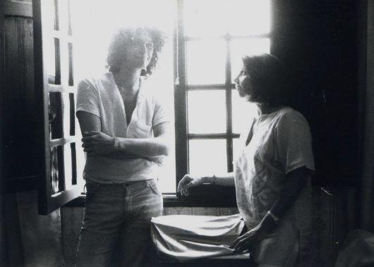 Reynaldo Jiménez junto a Blanca Varela en Lima 1979. Crédito de la foto: Violeta Lubarsky.