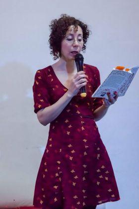 La poeta Karina Cartaginese